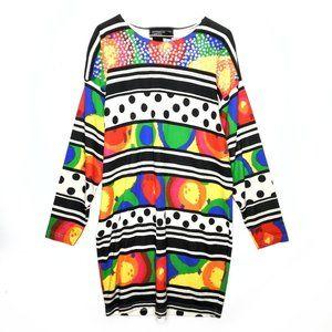 Vintage Spree Dress 1992 90s Rainbow Polka Dot VTG